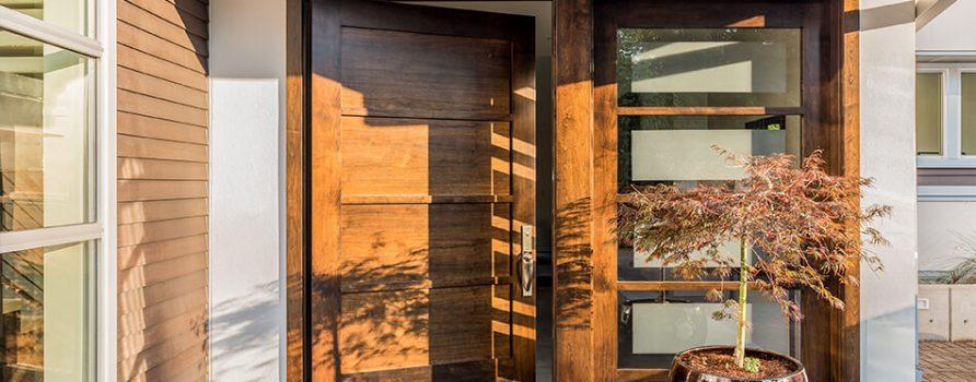 Porte in legno da esterno