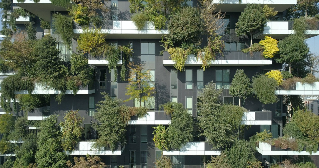Bosco Verticale, particolare della facciata, Milano